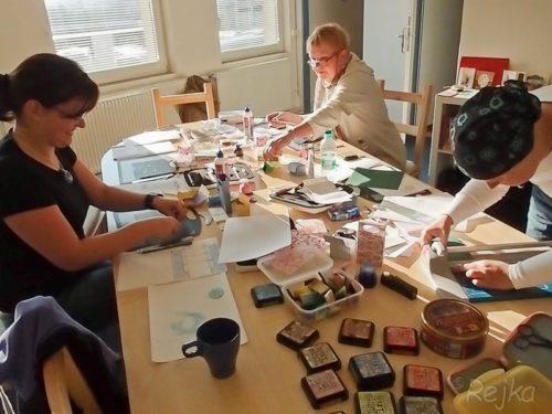 Krabičky s Rejkou Balcarovou v Davoně 2011