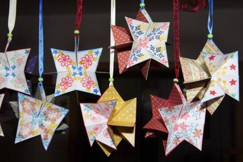 Papírové hvězdy s Rejkou 2012