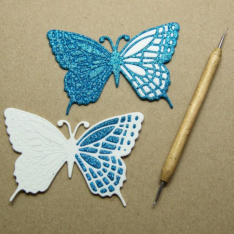 Mozaika z pěnovky - motýlci na mnoho způsobů