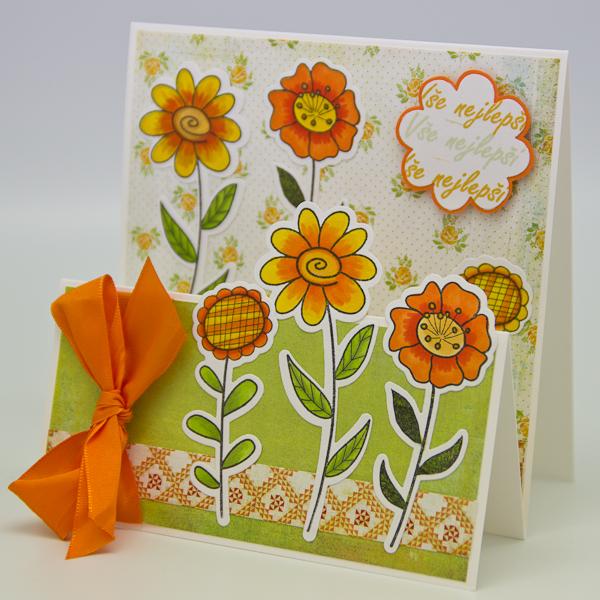 Kaskádové květinové přání od Rejky Balcarové.