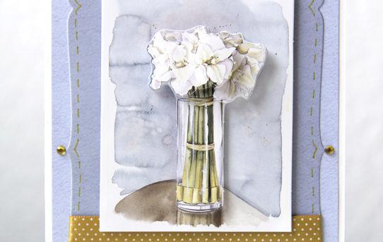 Květinové přání s 3D obrázky