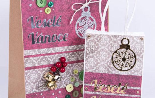 Vánoční dárkové tašky Veselé Vánoce
