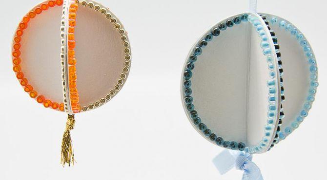 Papírovo korálkové ozdoby podle Rejky