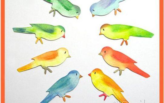 Inkoustovaní barevní ptáčci podle Rejky