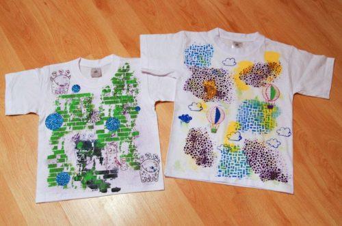 Dekorování triček s Rejkou v Jesenici 2014