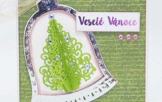 Vánoční přání s 3D stromečkem podle Rejky