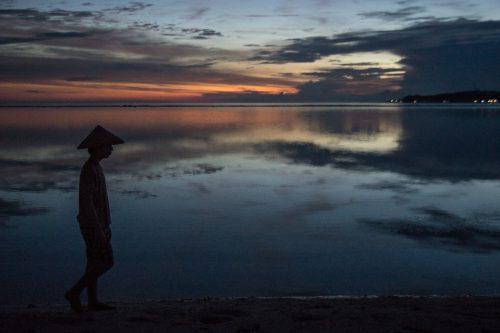 Západ slunce na Gili Air - foto Rejka Balcarová