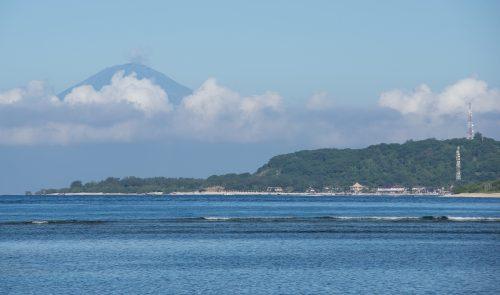 Pohled na Bali z Gili Air - foto Rejka Balcarová