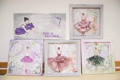 Obrazy s baletkou - foto Rejka Balcarová
