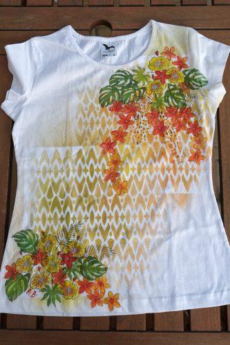 Tričko s exotickými motivy