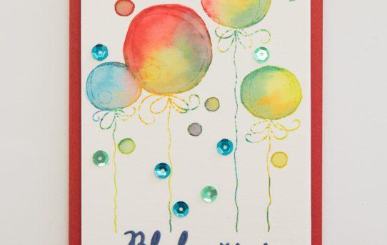 Přání s ozdobami nebo balónky – video tutorial