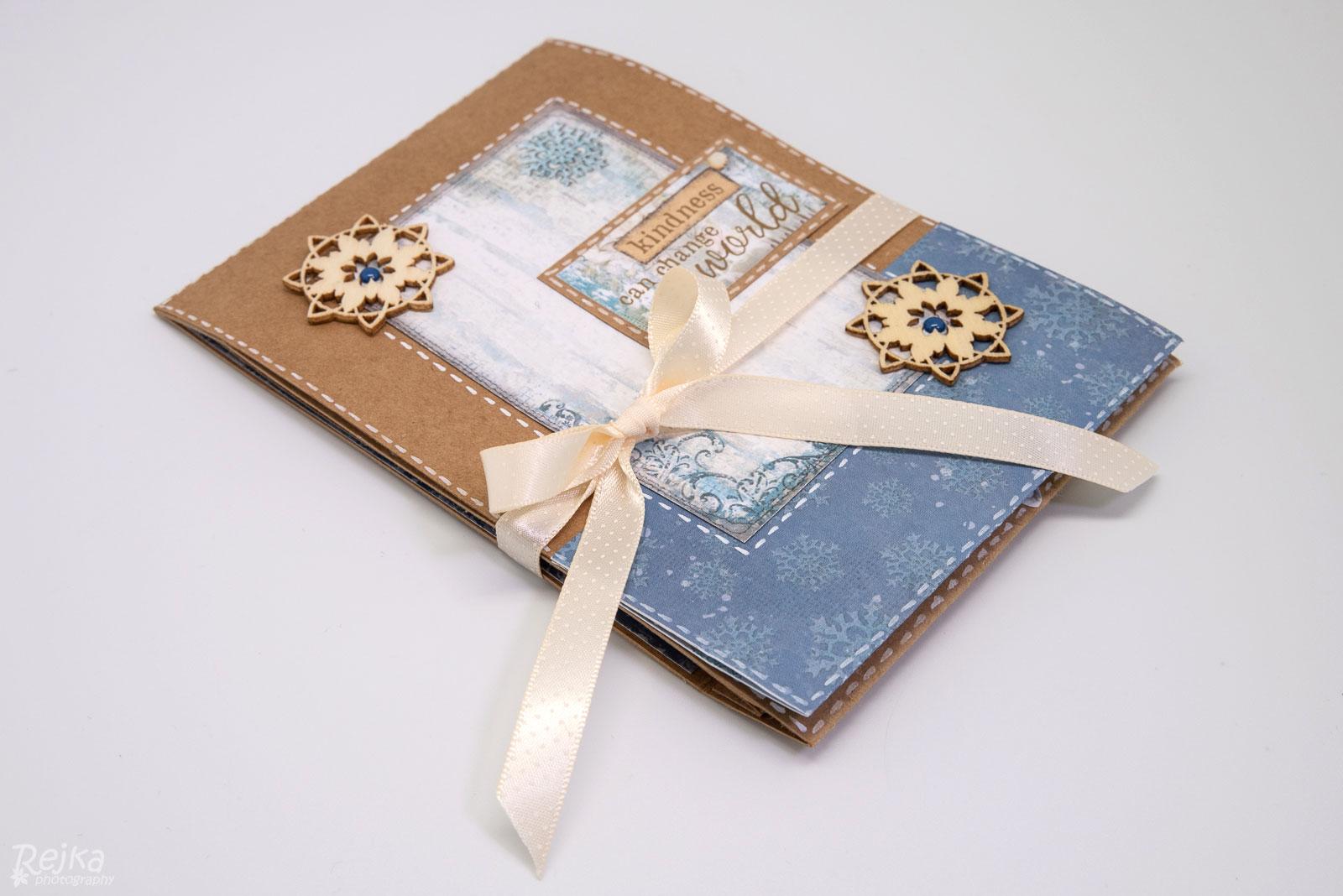 Přání Blue Stars Shadow Box