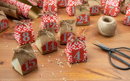 Adventní kalendáře z balicího papíru