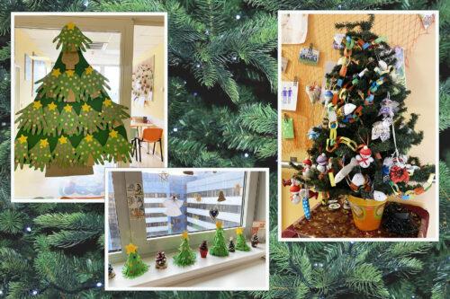 vánoční stromečky jako adventní výzdoba v Motole