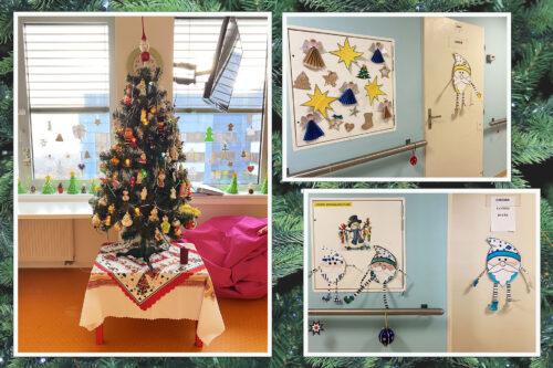 vánoční stromeček a adventní výzdoba dětské hematologie v Motole