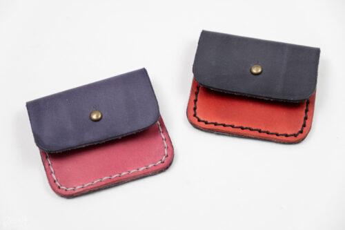 ručně vyráběné mini peněženky z kůže