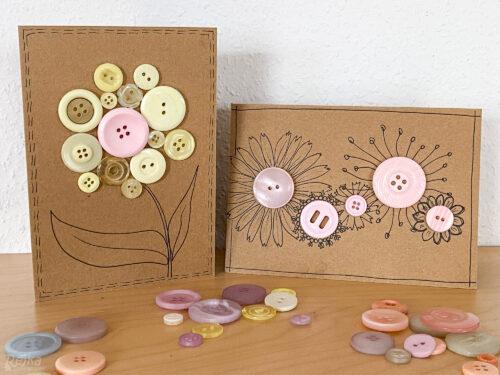 květinová knoflíková přání