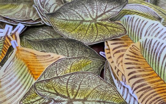 Přání s harmonikou z listů – video